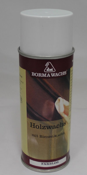 holzwachs mit bienenwachs farblos spray von borma 400 ml. Black Bedroom Furniture Sets. Home Design Ideas
